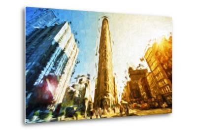 Flatiron Building II - In the Style of Oil Painting-Philippe Hugonnard-Metal Print