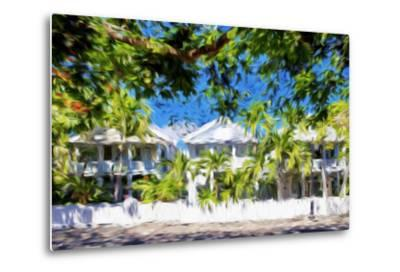 Kew West Cottages - In the Style of Oil Painting-Philippe Hugonnard-Metal Print