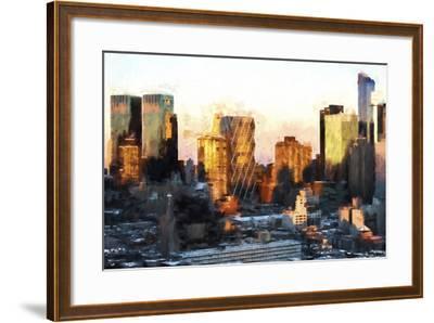 Sunset Buildings-Philippe Hugonnard-Framed Giclee Print