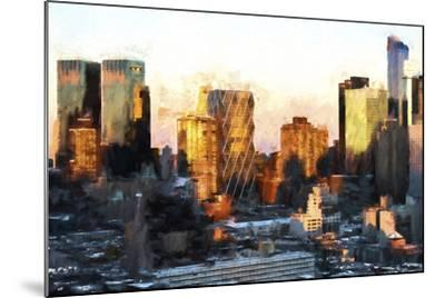 Sunset Buildings-Philippe Hugonnard-Mounted Giclee Print