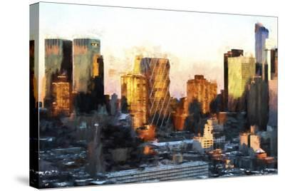 Sunset Buildings-Philippe Hugonnard-Stretched Canvas Print