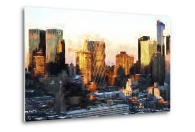 Sunset Buildings-Philippe Hugonnard-Metal Print