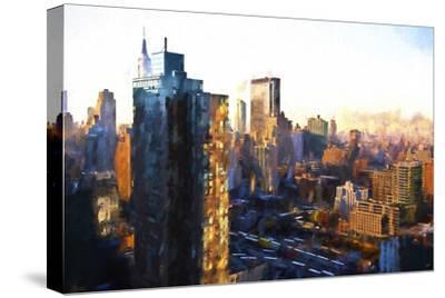 Manhattan Sunrise-Philippe Hugonnard-Stretched Canvas Print