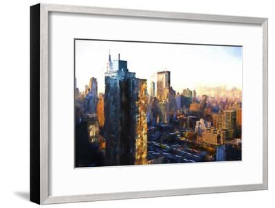Manhattan Sunrise-Philippe Hugonnard-Framed Giclee Print