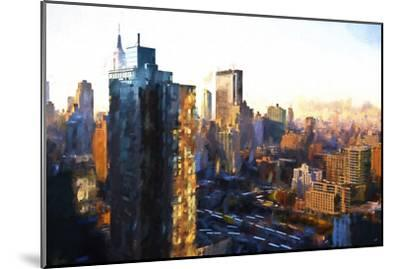 Manhattan Sunrise-Philippe Hugonnard-Mounted Giclee Print