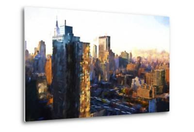 Manhattan Sunrise-Philippe Hugonnard-Metal Print