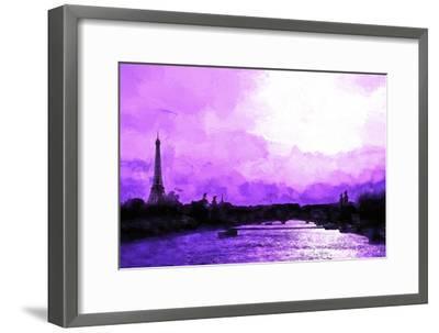 Paris Eiffel Pink Sunset-Philippe Hugonnard-Framed Giclee Print