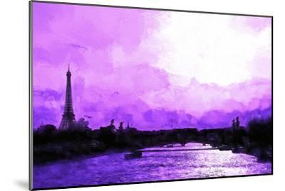 Paris Eiffel Pink Sunset-Philippe Hugonnard-Mounted Giclee Print
