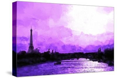 Paris Eiffel Pink Sunset-Philippe Hugonnard-Stretched Canvas Print