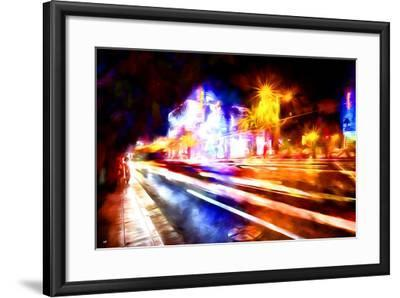 Traffic Light - In the Style of Oil Painting-Philippe Hugonnard-Framed Giclee Print