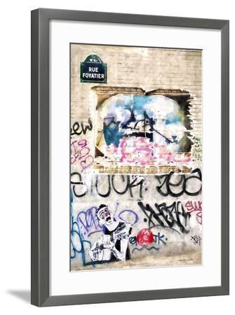 Street Art Paris-Philippe Hugonnard-Framed Giclee Print