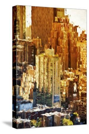 New York Facades - In the Style of Oil Painting-Philippe Hugonnard-Stretched Canvas Print