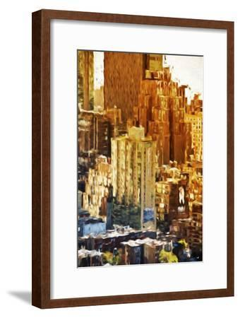 New York Facades - In the Style of Oil Painting-Philippe Hugonnard-Framed Giclee Print