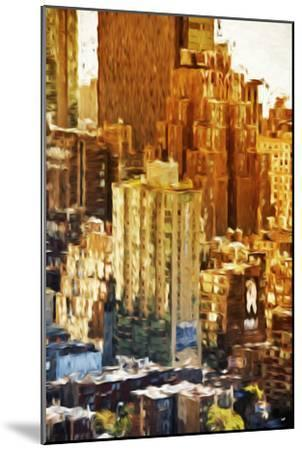 New York Facades - In the Style of Oil Painting-Philippe Hugonnard-Mounted Giclee Print