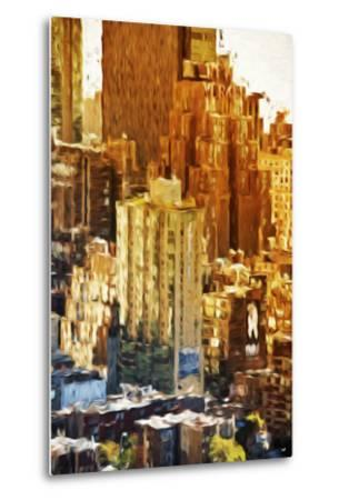 New York Facades - In the Style of Oil Painting-Philippe Hugonnard-Metal Print