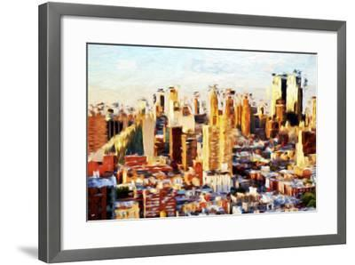 New York Cityscape II - In the Style of Oil Painting-Philippe Hugonnard-Framed Giclee Print
