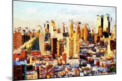 New York Cityscape II - In the Style of Oil Painting-Philippe Hugonnard-Mounted Giclee Print