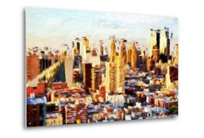 New York Cityscape II - In the Style of Oil Painting-Philippe Hugonnard-Metal Print
