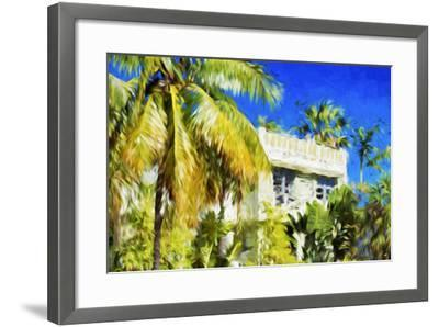 Miami Palms - In the Style of Oil Painting-Philippe Hugonnard-Framed Giclee Print