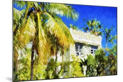 Miami Palms - In the Style of Oil Painting-Philippe Hugonnard-Mounted Giclee Print