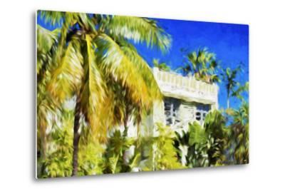 Miami Palms - In the Style of Oil Painting-Philippe Hugonnard-Metal Print