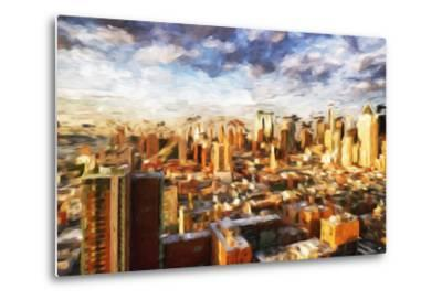 New York Cityscape - In the Style of Oil Painting-Philippe Hugonnard-Metal Print
