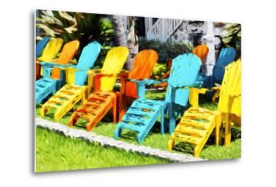 Relaxing - In the Style of Oil Painting-Philippe Hugonnard-Metal Print