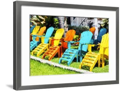 Relaxing - In the Style of Oil Painting-Philippe Hugonnard-Framed Giclee Print