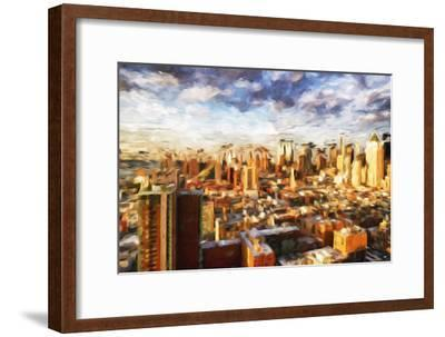 New York Cityscape - In the Style of Oil Painting-Philippe Hugonnard-Framed Giclee Print