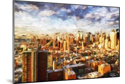 New York Cityscape - In the Style of Oil Painting-Philippe Hugonnard-Mounted Giclee Print