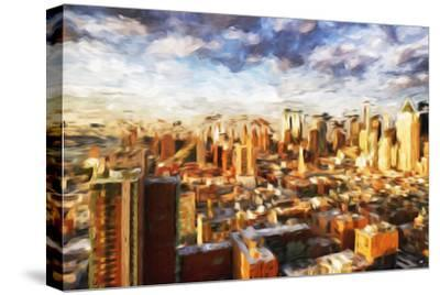 New York Cityscape - In the Style of Oil Painting-Philippe Hugonnard-Stretched Canvas Print