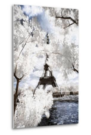 View of the Eiifel Tower - In the Style of Oil Painting-Philippe Hugonnard-Metal Print