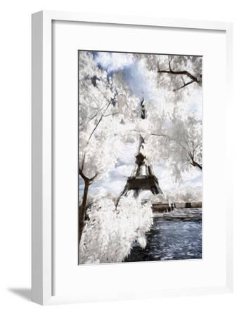 View of the Eiifel Tower - In the Style of Oil Painting-Philippe Hugonnard-Framed Giclee Print