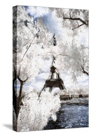 View of the Eiifel Tower - In the Style of Oil Painting-Philippe Hugonnard-Stretched Canvas Print