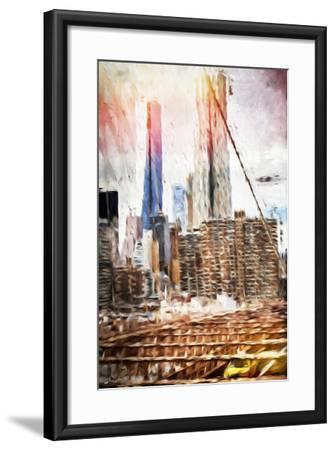 Towers - In the Style of Oil Painting-Philippe Hugonnard-Framed Giclee Print