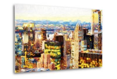 Manhattan Cityscape III - In the Style of Oil Painting-Philippe Hugonnard-Metal Print