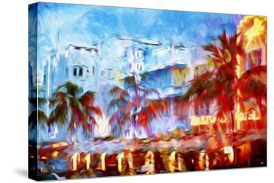 Boulevard Hotel - In the Style of Oil Painting-Philippe Hugonnard-Stretched Canvas Print
