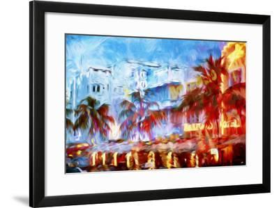 Boulevard Hotel - In the Style of Oil Painting-Philippe Hugonnard-Framed Giclee Print