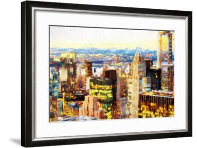 Manhattan Cityscape III - In the Style of Oil Painting-Philippe Hugonnard-Framed Giclee Print
