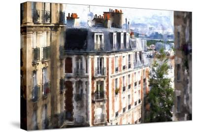 Montmartre Buildings-Philippe Hugonnard-Stretched Canvas Print