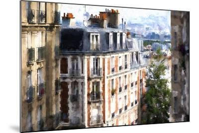 Montmartre Buildings-Philippe Hugonnard-Mounted Giclee Print