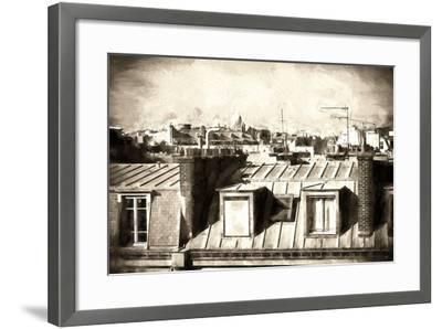 Paris Rooftops III-Philippe Hugonnard-Framed Giclee Print
