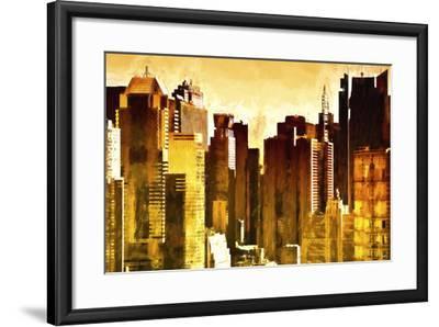 Golden Buildings-Philippe Hugonnard-Framed Giclee Print