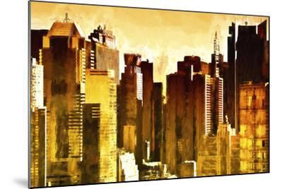 Golden Buildings-Philippe Hugonnard-Mounted Giclee Print