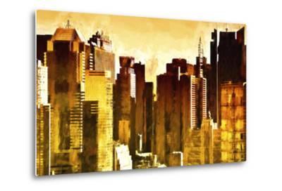 Golden Buildings-Philippe Hugonnard-Metal Print
