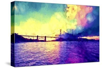 Watercolor Golden Gate Bridge-Philippe Hugonnard-Stretched Canvas Print