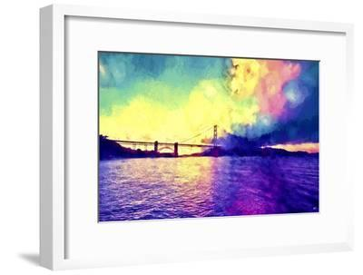 Watercolor Golden Gate Bridge-Philippe Hugonnard-Framed Giclee Print