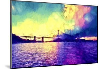 Watercolor Golden Gate Bridge-Philippe Hugonnard-Mounted Giclee Print