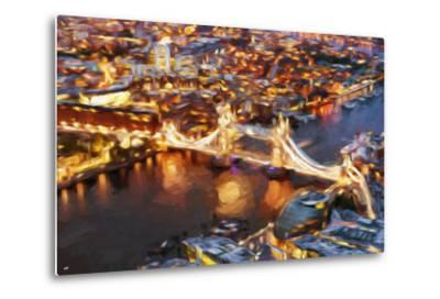 London Cityscape IV - In the Style of Oil Painting-Philippe Hugonnard-Metal Print