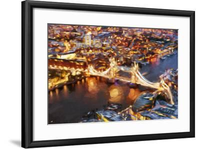 London Cityscape IV - In the Style of Oil Painting-Philippe Hugonnard-Framed Giclee Print